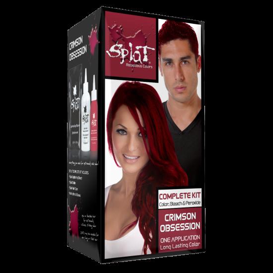 Splat Original Complete Kit Crimson Obsession Semi Permanent Hair Dye