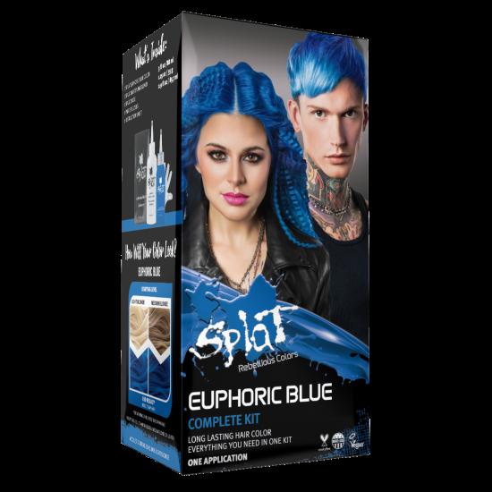 Splat Original Complete Kit Euphoric Blue Semi Permanent Hair Dye